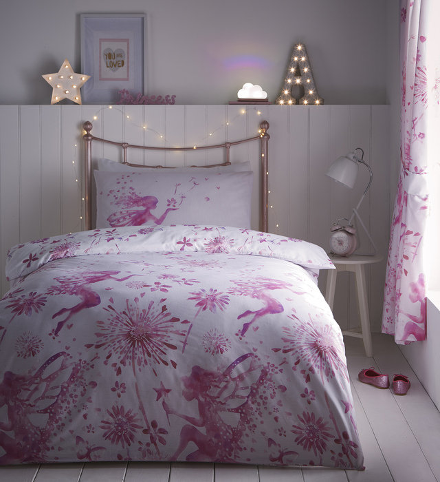 Fairy Princess Reversible Duvet, Fairy Princess Twin Bedding
