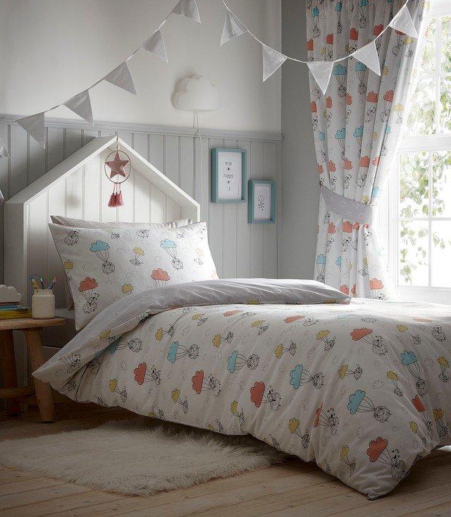 Sheep Dreams Sleeping Sky, Bedding And Curtains