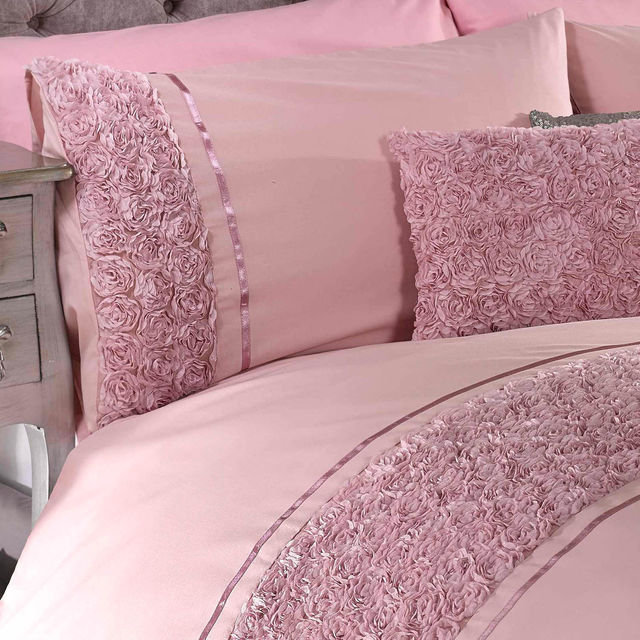 d7015475cde9 LIMOGES Rose Floral Chic Ruffle Duvet Cover Set Bedding Range Thumbnail