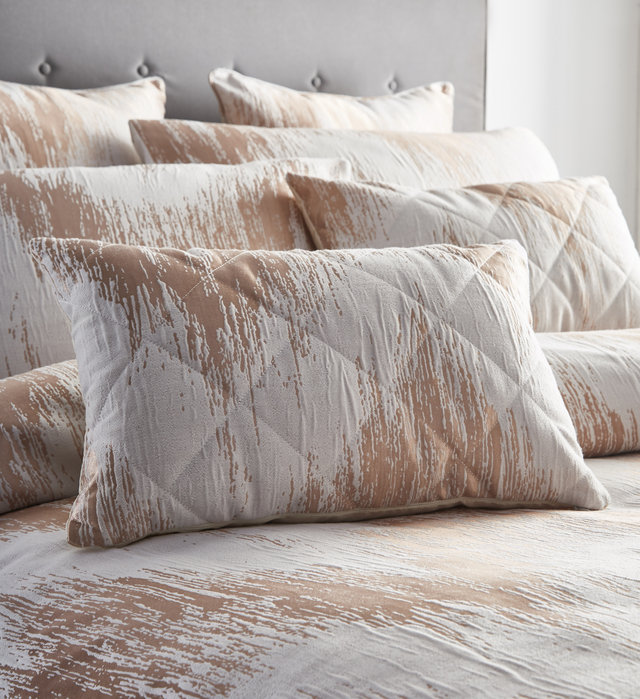 QUARTZ Shimmer Textured Jacquard Duvet Cover Set Bedding Range