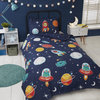 SPACE AND ALIENS Glow in the Dark Reversible Duvet Cover Set Thumbnail