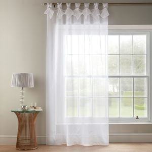 TIARA DOLLY Diamante Voile Net Curtain Ready Made Tab Top Single Panel