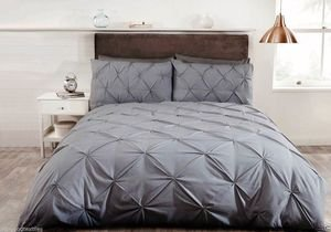 BALMORAL Pleated Pintuck Duvet Cover Set