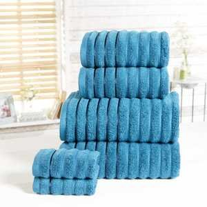 RIBBED 100% Cotton 6-Piece Towel Bale Set