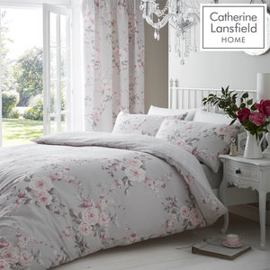 Catherine Lansfield Canterbury Easy Care Duvet Cover Set Bedding Range