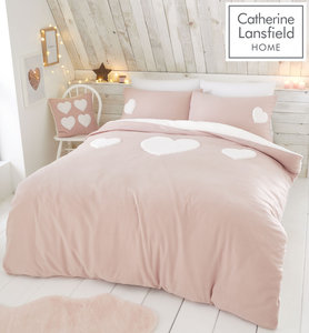 Catherine Lansfield Cosy Heart Duvet Cover Set