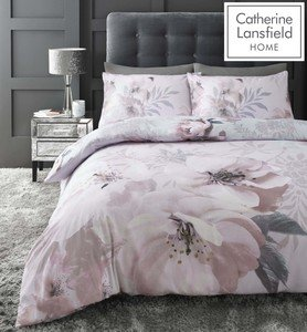 Catherine Lansfield Dramatic Floral Easy Care Duvet Cover Set