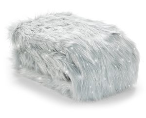 Catherine Lansfield Metallic Fur Shimmer Throw/Blanket