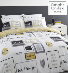Catherine Lansfield Sleep Dreams Easy Care Duvet Cover Set
