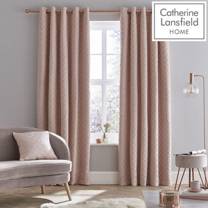 Catherine Lansfield So Soft Luxe Velvet Eyelet Curtains Ring Top Curtains Pair