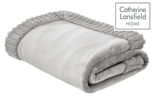 Catherine Lansfield Velvet and Faux Fur Throw
