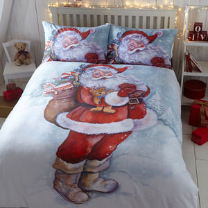 Christmas Classic FATHER CHRISTMAS Santa Claus Duvet Cover Set