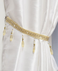 CRYSTAL Beaded Tie Back Single