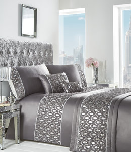 CRYSTAL Diamante Sequins Duvet Cover Set Bedding Range