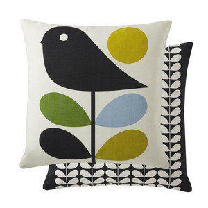 Orla Kiely Designer EARLY BIRD Feather Filled Cushion