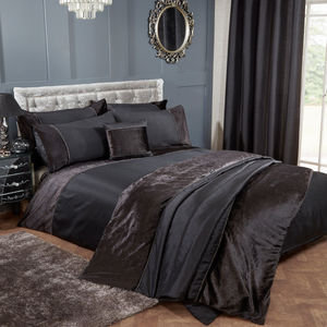 KAYLA Velvet Band Duvet Cover Set Bedding Range