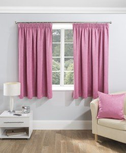 SERENITY Thermal Blockout Woven Lined Tape Top Pencil Pleat Curtains Pair