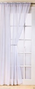 FIJI Crushed Voile Net Curtain Ready Made Slot Top Single Panel