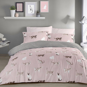 CATS Dotted Reverse Duvet Cover Set