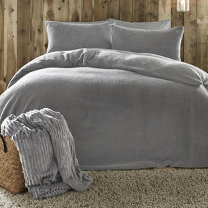 TEDDY FLEECE Teddy Bear Sherpa Fluffy Soft Warm Duvet Cover Set