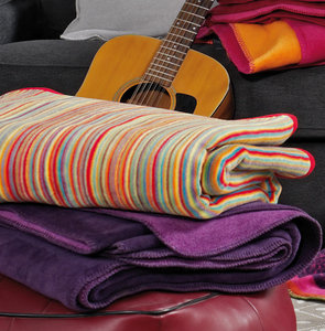 Ibena MALANG Striped Jacquard Throw/Blanket