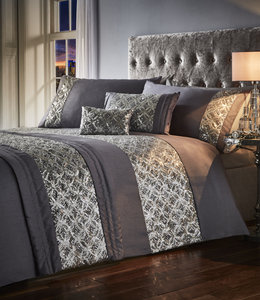 JOCASTA Shimmer Sequins Silk Duvet Cover Set Bedding Range