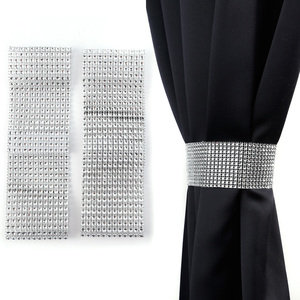 DIAMANTE Tie Backs Pair