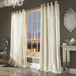 Kylie Minogue Designer ILIANA Velvet Velour Eyelet/Ring Top Curtains Pair
