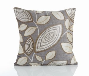 LONDON LEAF Chenille Cushion Cover
