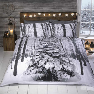 GLITTER WONDERLAND Christmas Duvet Cover Set