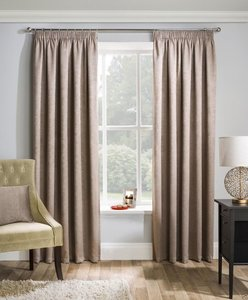 MATRIX Thermal Woven Blockout Lined Ready Made Tape Top Pencil Pleat Curtains Pair
