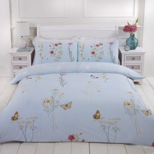 LAURA Floral Butterfly Duvet Cover Set