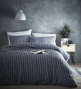 DANTE Seersucker Puckered Duvet Cover Set