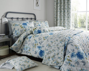 COLETTE Floral Printed 200 Thread Count Duvet Cover Set