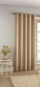 SAVOY Blackout Chenille Woven Lined Ready Made Eyelet/Ring Top Single Door Curtain