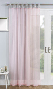 VEGAS Diamante Voile Net Curtain Ready Made Tab Top Single Panel