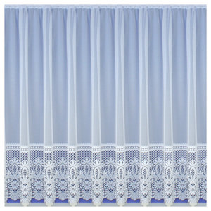 White Net Curtains Pre Cut Sheer Lace Ready Made Slot Top Net Panels