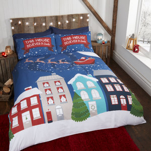MIDNIGHT AT CHRISTMAS Glow in the Dark Duvet Cover Set