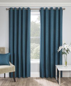 WARWICK Thermal Blockout Lined Ready Made Eyelet/Ring Top Curtains Pair