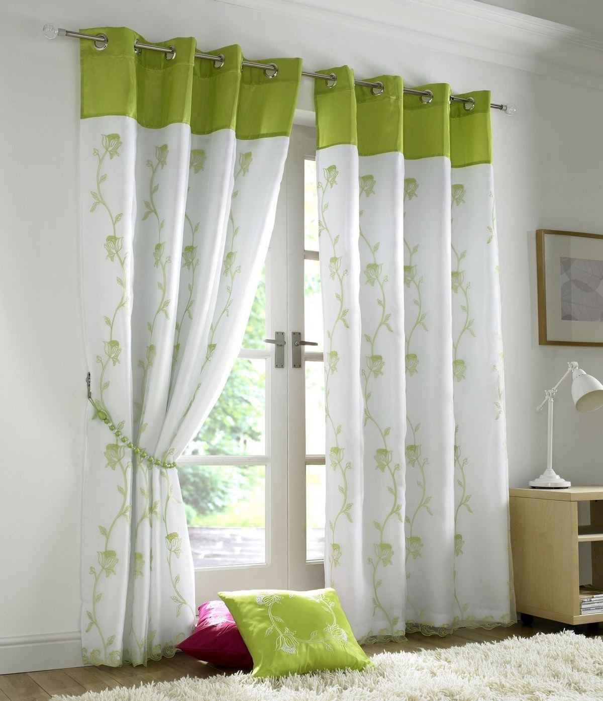 Pair Faux Silk Curtain Ring Top Eyelet Fully Lined Super Soft Ready Made Bedroom
